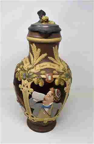 Mettlach #1736 Full Color 3 Liter Beer Stein