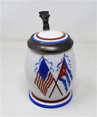 1/2 Liter American/Cuban Beer Stein