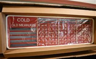 Vintage Old Milwaukee Beer Cooler Sign/Light NEW
