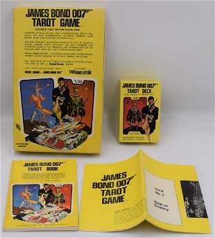 1973 James Bond 007 Live and Let Die Tarot Cards