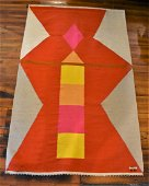 Evelyn Ackerman Abstract Wool Tapestry