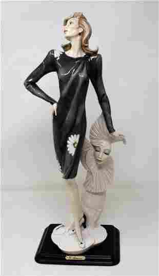 "Large Giuseppe Armani Figure ""Lady with Mask"""