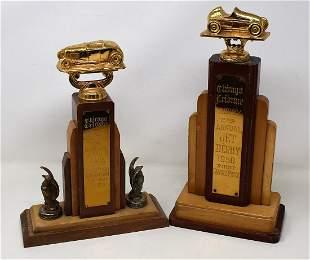 Vintage Chicago Tribune Jet Derby Trophies
