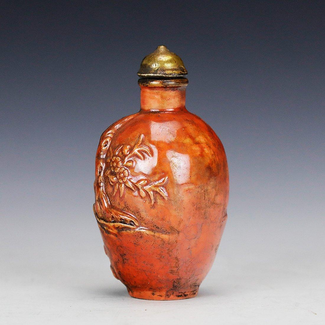 Asia Hand painted ceramic snuff bottle ,18 century - 3
