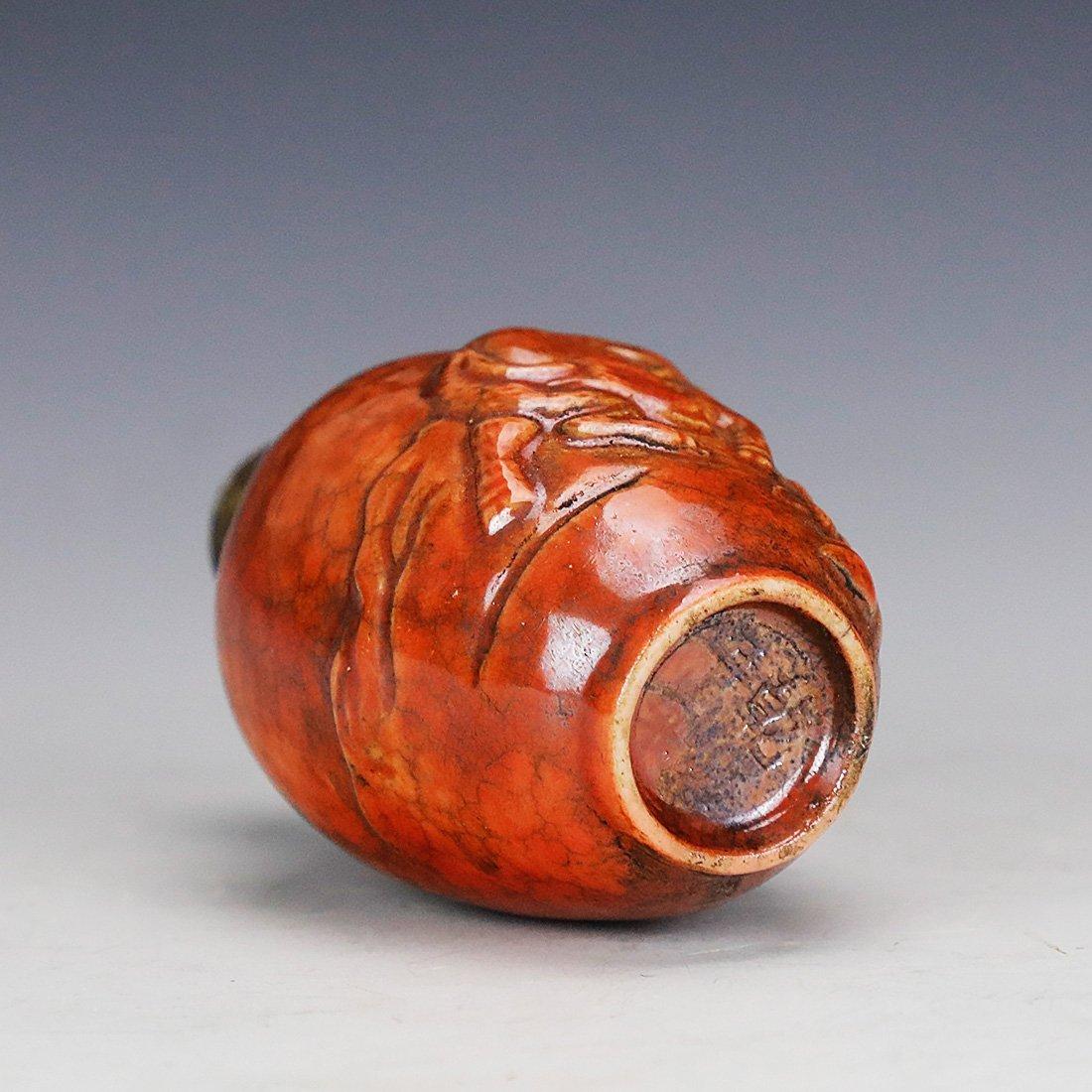 Asia Hand painted ceramic snuff bottle ,18 century - 5