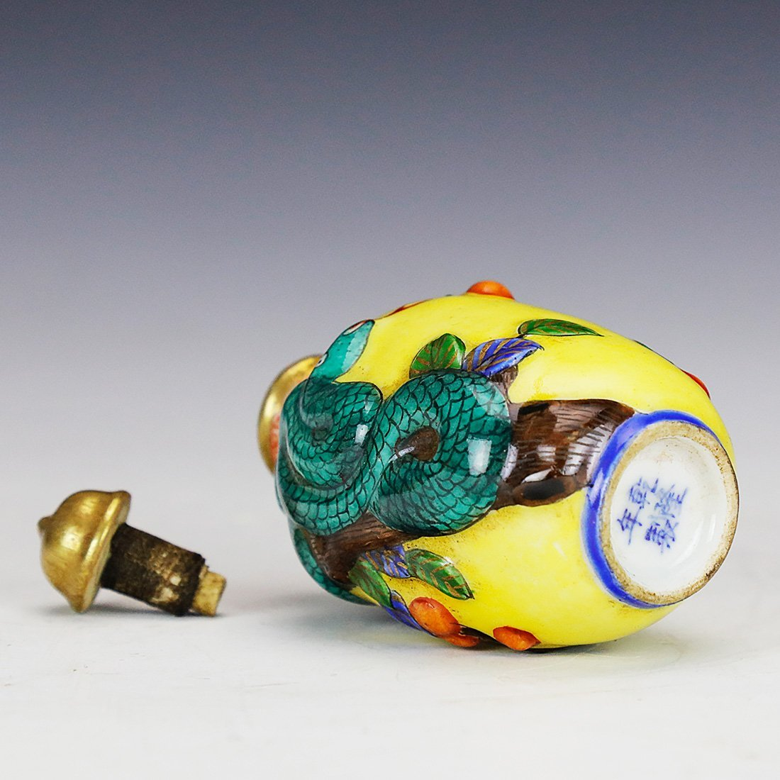 24K painted hand-painted snuff bottle,Qian Long Dynasty - 6