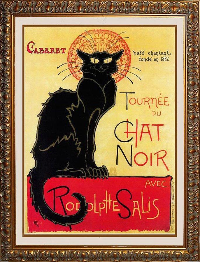 "Theophile Steinlen - ""Tournee du Chat Noir"" (Black Cat)"