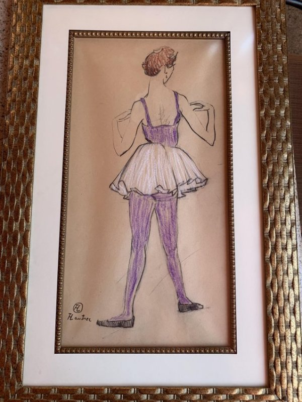 Toulouse Lautrec-Ballerina Viewed From the Back