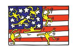 Keith Haring - American Flag Poster
