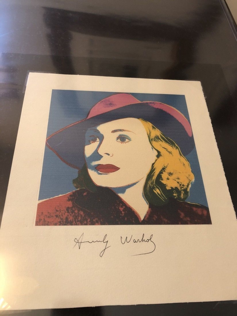 Andy Warhol - Bergman With Hat