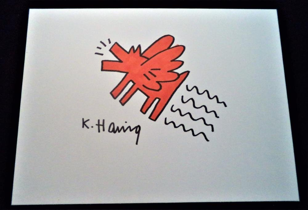 Keith Haring (In the Style of) - Four Signed Drawings