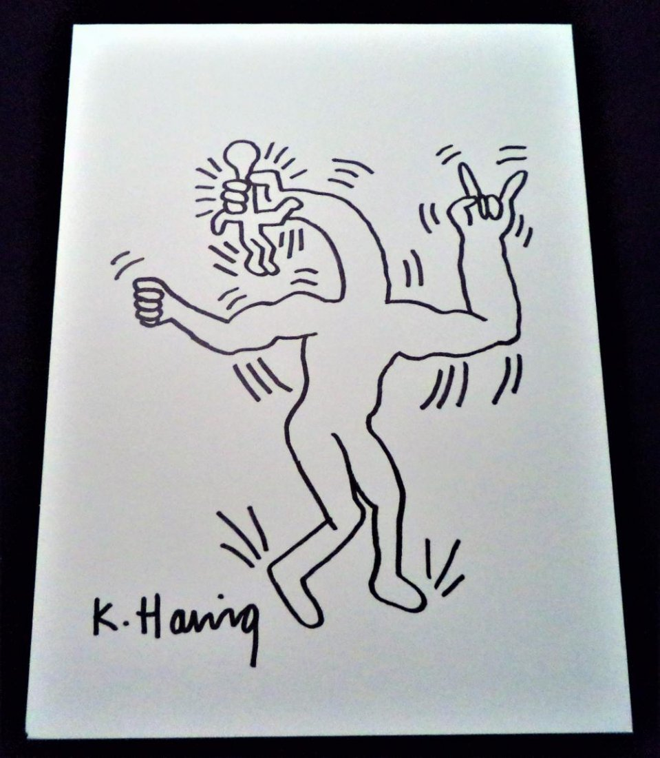 Keith Haring (In the Style of) - Four Signed Drawings - 2