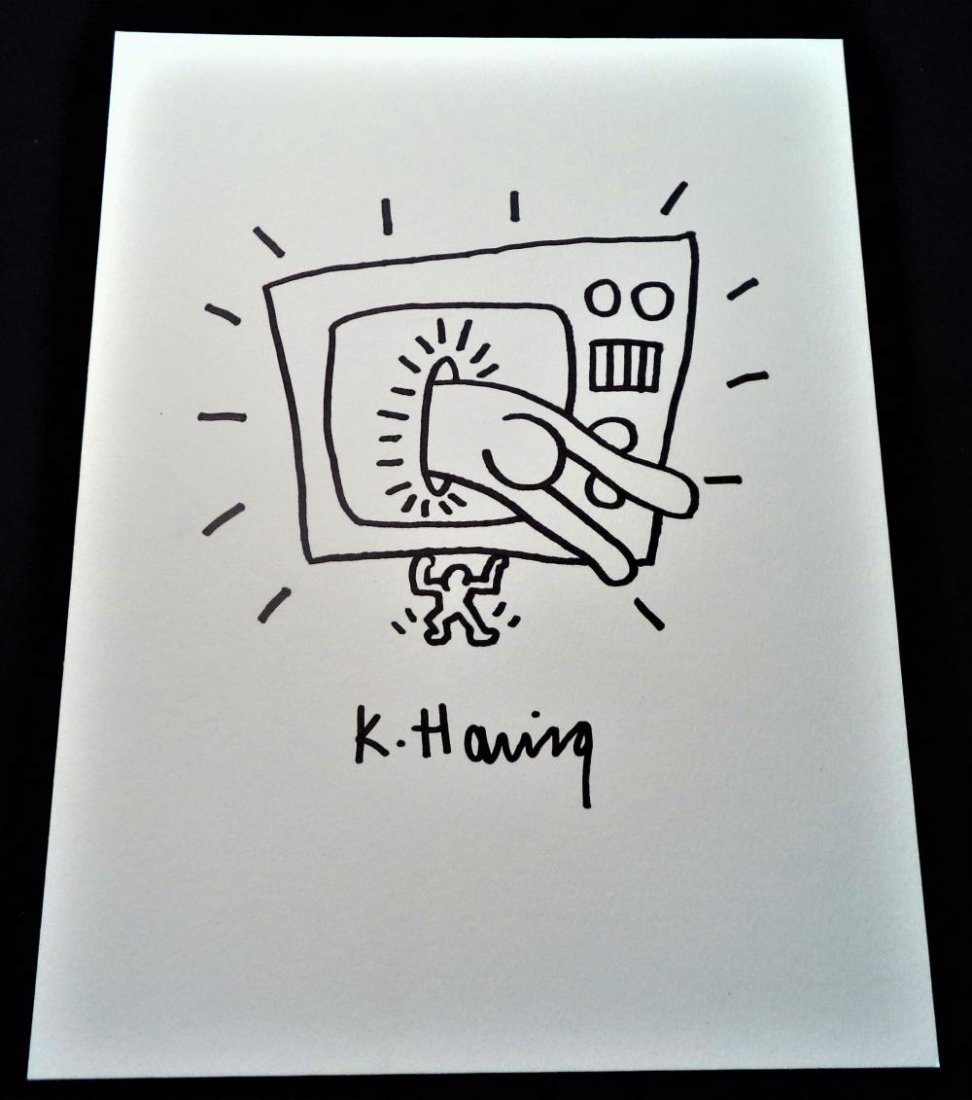 Keith Haring (In the Style of) - Four Signed Drawings - 3