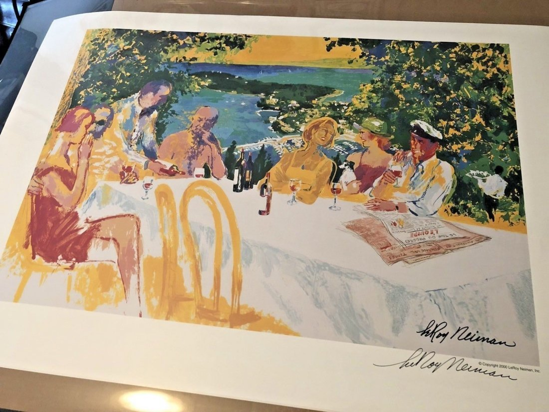 Leroy Neiman - Wine Alfresco