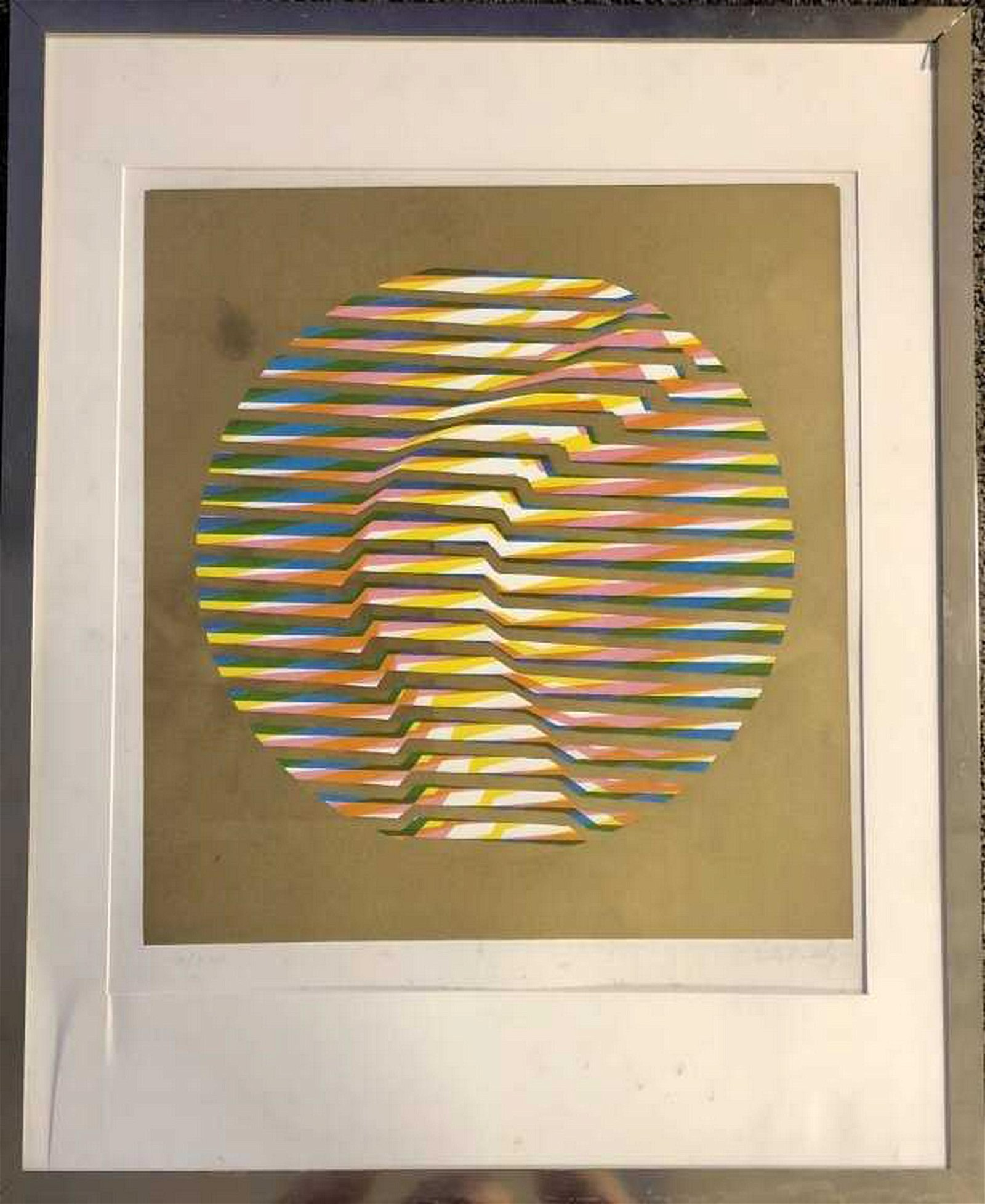 Victor Vasarely - Untitled (on Goldfoil)