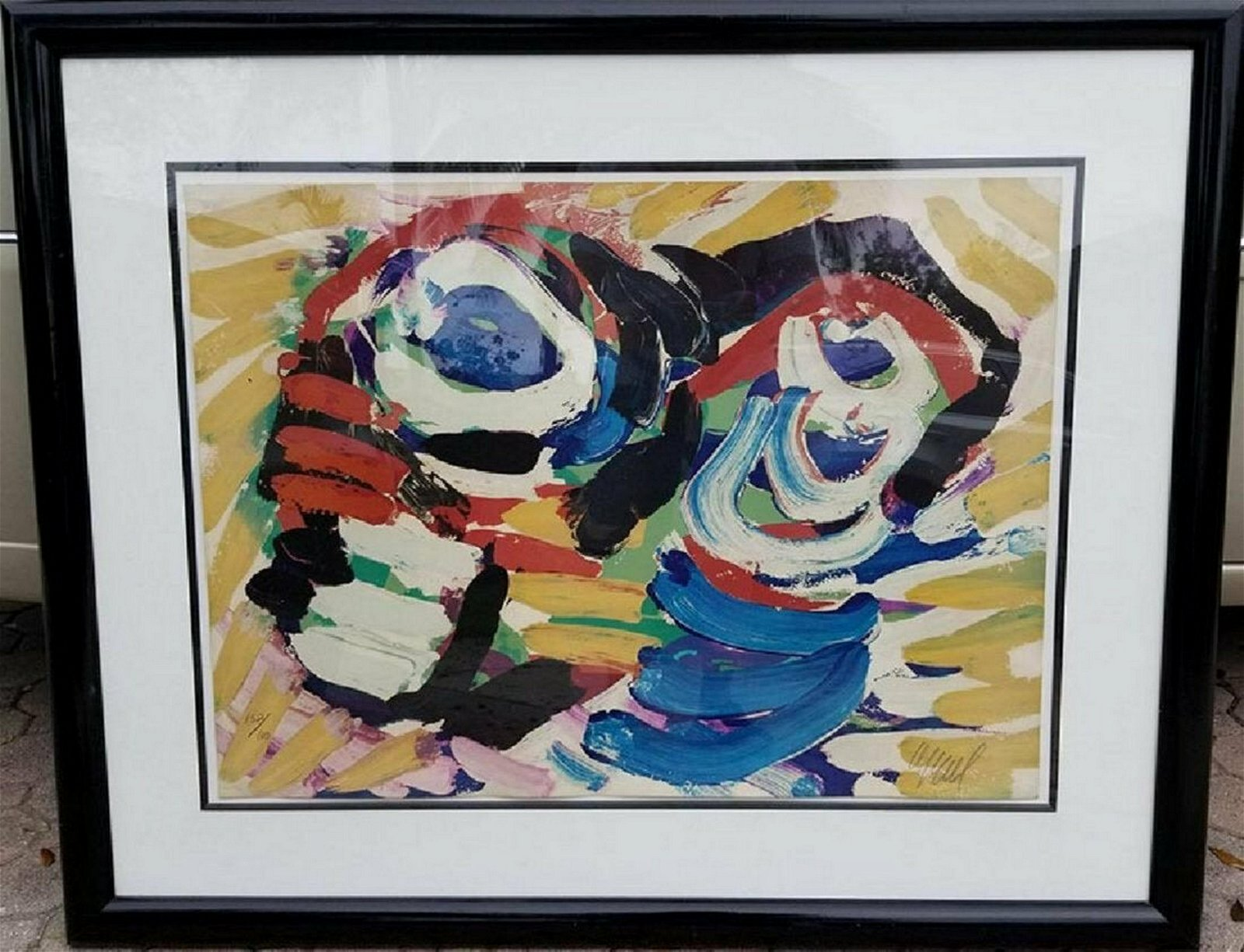 "Karel Appel - ""Happy Couple"" (aka ""Black and Blue Eye"")"