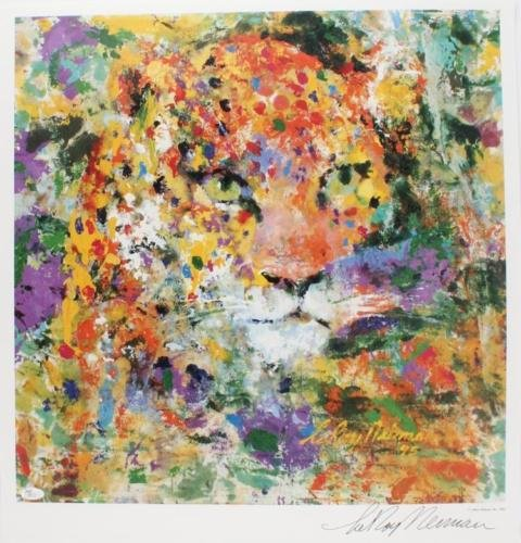 Leroy Neiman - Portrait of a Leopard