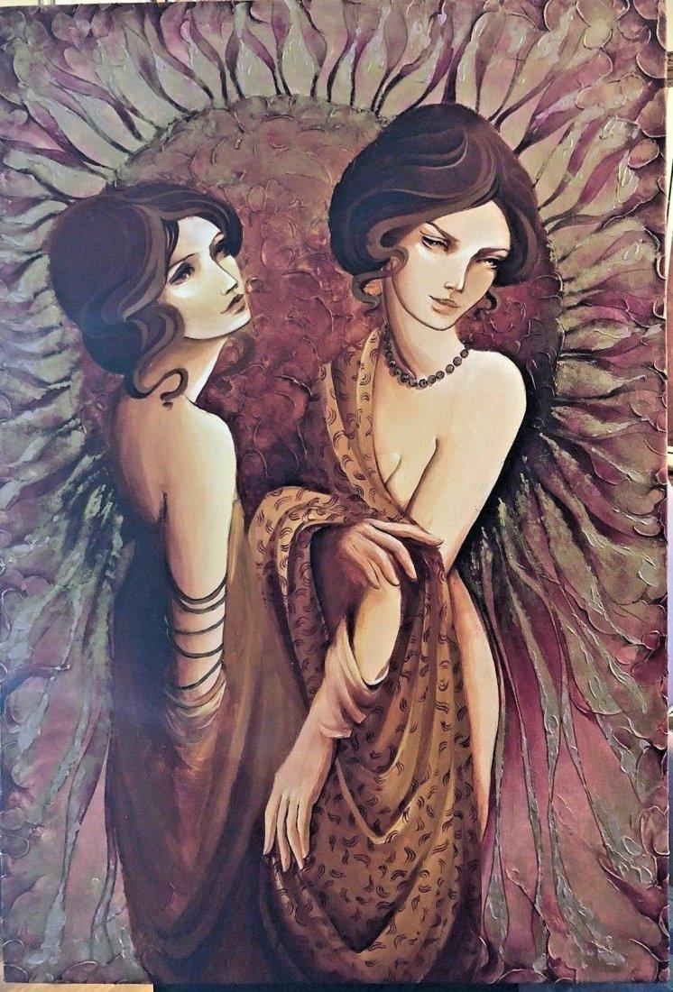 Anisa Vilner - Untitled Large Oil Painting