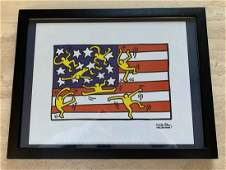 """Keith Haring """"American Flag (Untitled)"""