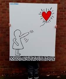 Karl Striker-Banksy on Haring