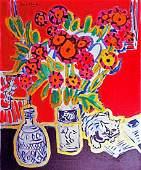 Wayne Ensrud - Happy Cat with Bouquet