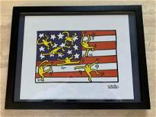 Keith Haring - American Flag (Untitled)