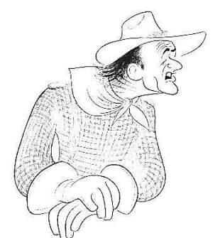 Al Hirschfeld - John Wayne