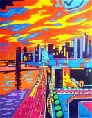 Wayne Ensrud - Sunset Over Manhattan