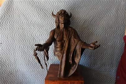 """The Offering"" -Joe Velazquez Native American Sculpture"
