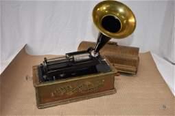 Antique Edison Home Phonograph  Model-H 4 minute