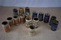 Edison record tubes (early 1900s) for Home Phonograph