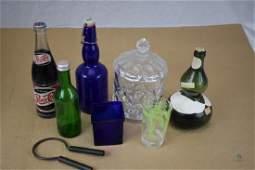 Assorted lot of vintage glassware