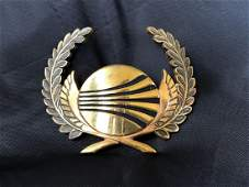 Continental Airlines 1980s Cockpit Crew Hat Badge