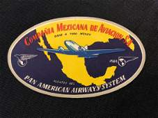 Pan American Airlines 1940s50s Compania Mexicana Lu