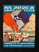 Pan American Airlines 1940s Luggage Sticker  Decal