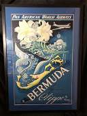 Pan Am Bermuda Travel Poster Boris Artzybashef