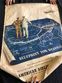 """American Airlines """"Blueprint for Defense"""" Poster 1941"""