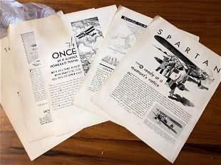 Spartan Aircraft Company Printed Magazine Ads