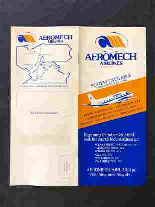 Aeromech Arlines Timetable 08/01/1980