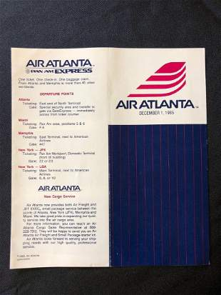 Air Atlanta Timetable 12/01/85