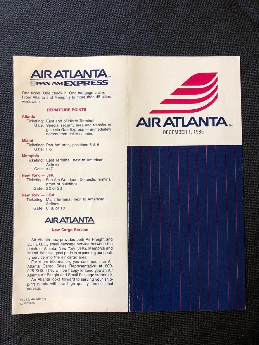 Air Atlanta Timetable 12/01/85