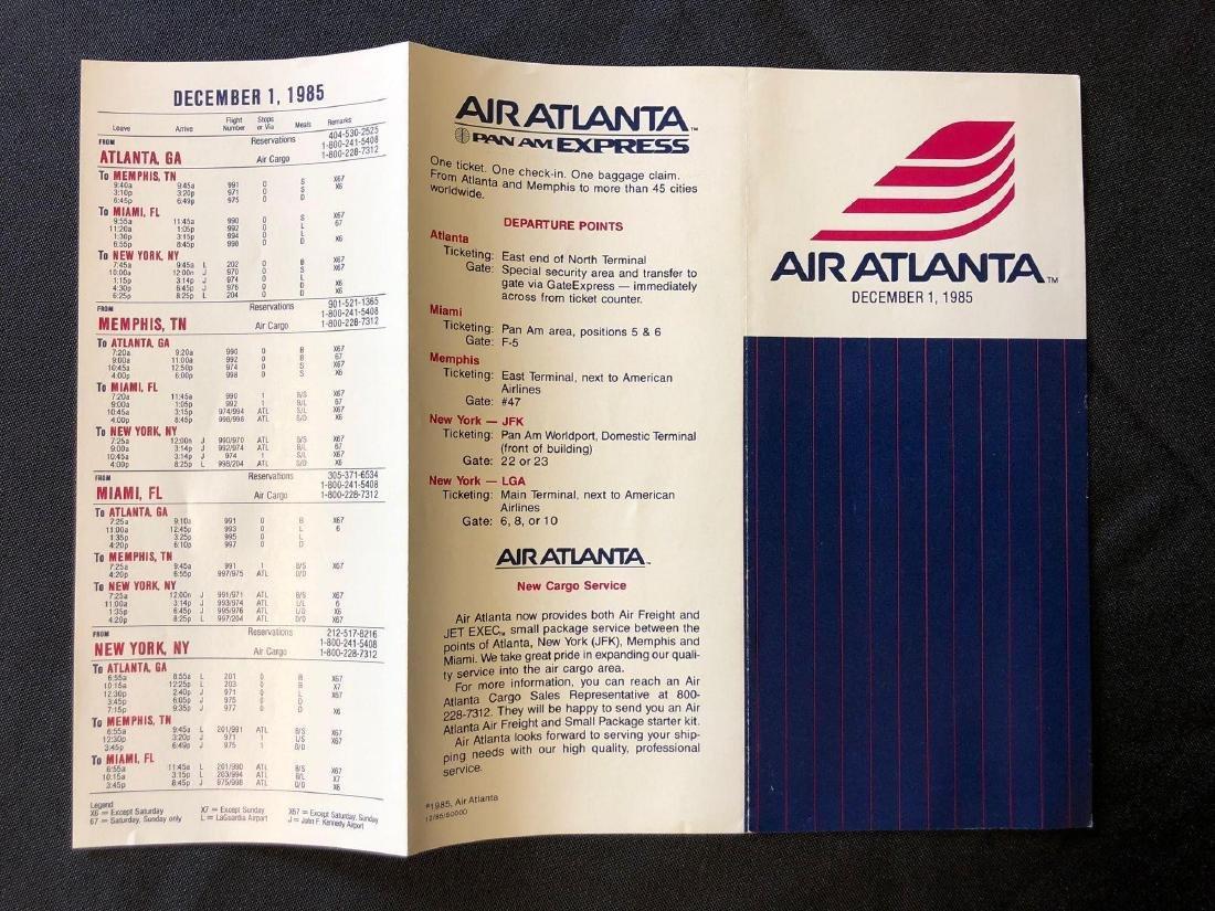 Air Atlanta Timetable 12/01/85 - 2
