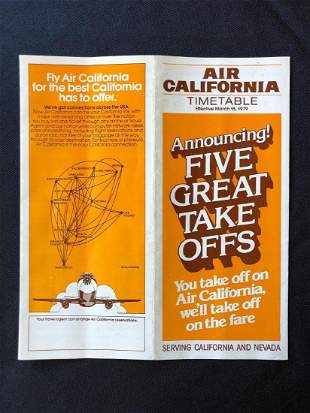 Air California Timetable 03/15/79