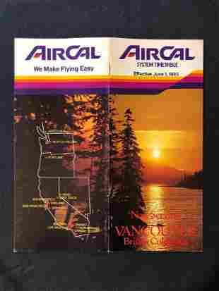 Air Cal System Timetable 6/1/85