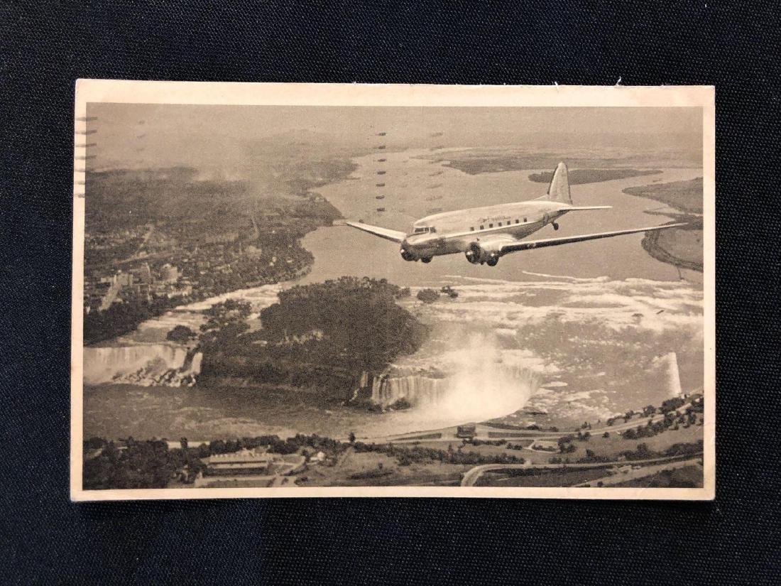 American Airlines Niagara Falls Flagship 1942 Postcard