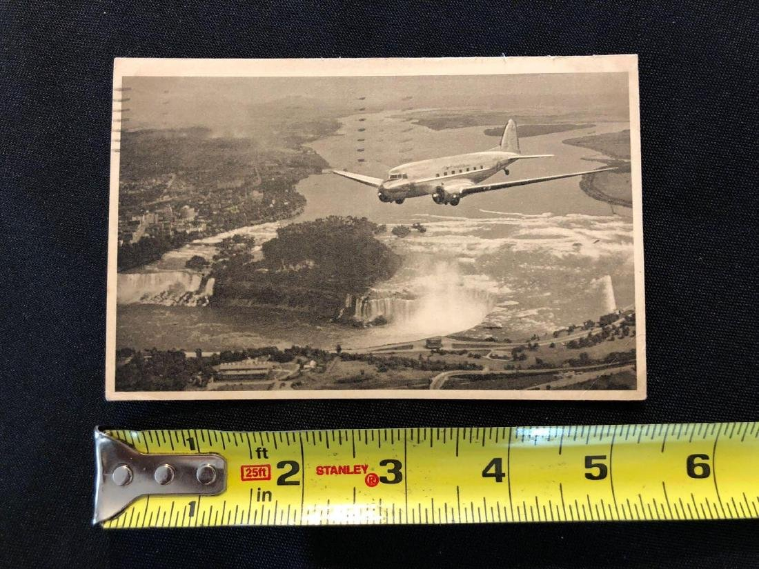American Airlines Niagara Falls Flagship 1942 Postcard - 3
