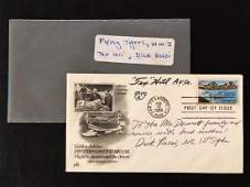 Flying Tigers Tex Hill Autographed Air Mail 1985