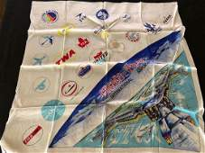 Chicago O'Hare International Airport Hand Rolled Scarf