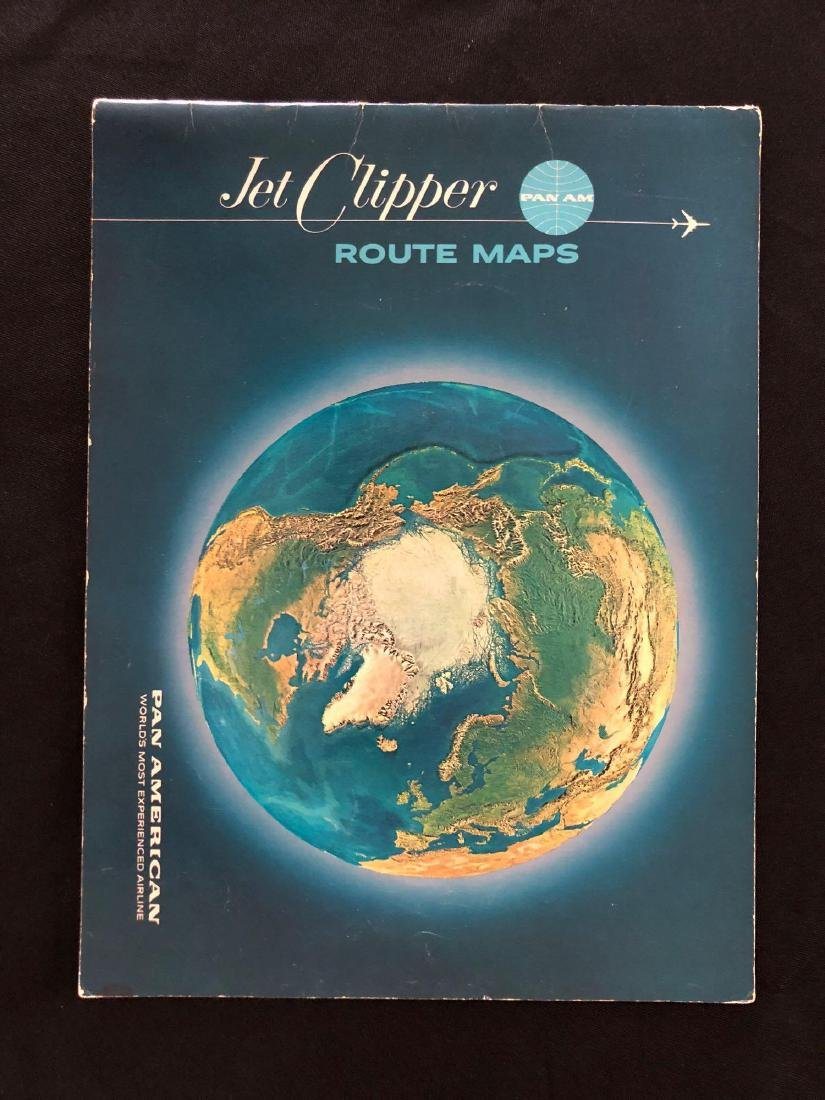 Pan American Jet Clipper Route Maps 1964