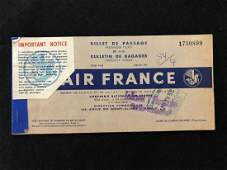 Air France 1953 Passanger Ticket and Baggage Check Book